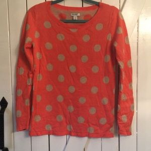 Old Navy Polka dot coral sweater